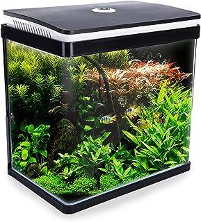 Dynamic Power Curved Glass RGB LED Fish Tank 30L (AQ-FT30L-BK)