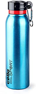 Cello Beatle Stainless Steel Flask, 550ml (Metallic Blue)
