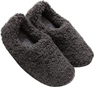 mianshe Women's and Men's Fluffy Bootie Slipper Sock with Memory Foam House Shoes