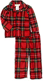 Image of Classic Red Plaid Christmas Pajamas for Boys and Toddler Boys
