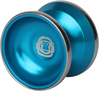 Spintastics Space Monkey Professional Bimetal Aluminum Steel Yoyo with Long Spin Ball Bearing Axle and Extra String