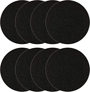 Resinta 8 Pieces Replacement Compost Bin Filters Kitchen Activated Carbon Compost Pail Filters for Ceramic Compost Keeper, 5.5 Inches