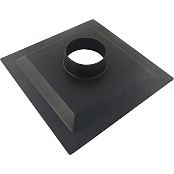 12 x 12 x 2.5 Inch ABS Plastic Flange with 4 Inch OD Opening for Dust Collector Systems 73467