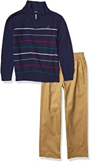 NAUTICA Boys' Toddler 2 Piece Sweater Set with Pants
