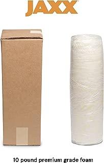 Jaxx Premium Grade Shredded Foam Filling - Refill for Pillows, Bean Bag Chairs, Dog Beds, and Cushions, 10 lb