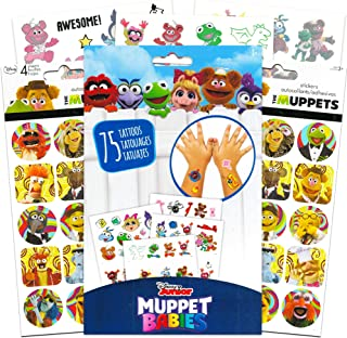 Disney Muppet Babies Stickers and Tattoos Party Supplies Pack ~ 120 Muppets Stickers and 75 Temporary Tattoos Featuring Kermit, Fozzie, Miss Piggy and More (Muppet Babies Toys)