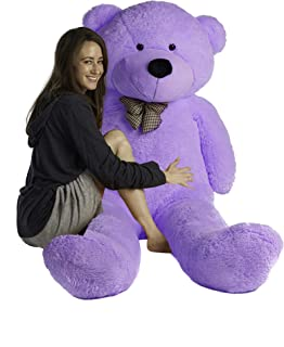 Mr. Bear Cares Giant Stuffed 78 inches (6.5 Feet) Teddy Bear Unique Gift for a Loved One - Soft and Cuddly - Purple