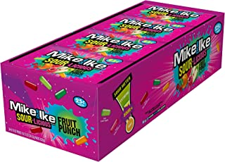 Mike & Ike Sour-Licious Fruit Punch .78 oz Pouches - 24 Pack