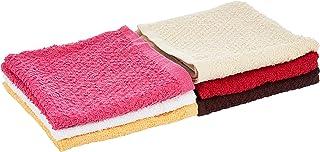 Princes PRNC_WASH_CLTH_6 DEYARCO Terry Wash Cloth 6 Pieces Set, Size 30 x 30 cm, Cotton, Single, Multi-Colour, W 16.0 x H ...