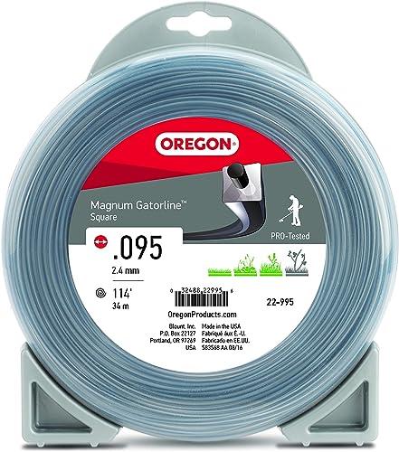 popular Oregon lowest 22-995 outlet sale Magnum Gatorline Square Trimmer Line .095-Inch by 114-Foot, Gray online sale