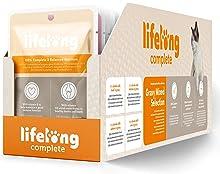 Marca Amazon - Lifelong Alimento completo para gatos adultos - Selección mixta en salsa, 2,4 kg (24 bolsitas x 100g)