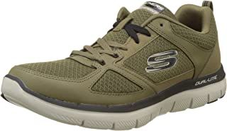 Skechers Men's 52189 Trainers, Green (Olive/Black), 8 AU