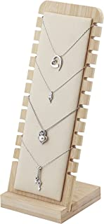 Bocar Bamboo Jewelry Display Stand Showcase for Pendant Necklace (ZZ-6-Beige)
