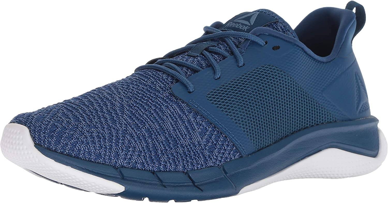 Reebok Men's Print Run 3.0 shoes, Bunker bluee Slate wh, 7 M US