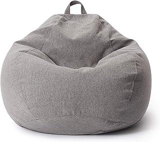 Lumaland Puf Pera de Interior Comfort Line - Sillón Puff moldeable Gaming - Funda Lavable y Relleno de Bolas de EPS - Adulto Infantil - 185 L - 80 x 90 x 50 cm - Gris Claro