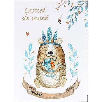 Prot/ège carnet de sant/é Licorne Animaux Fabrication Fran/çaise Porte /étui b/éb/é Enfants