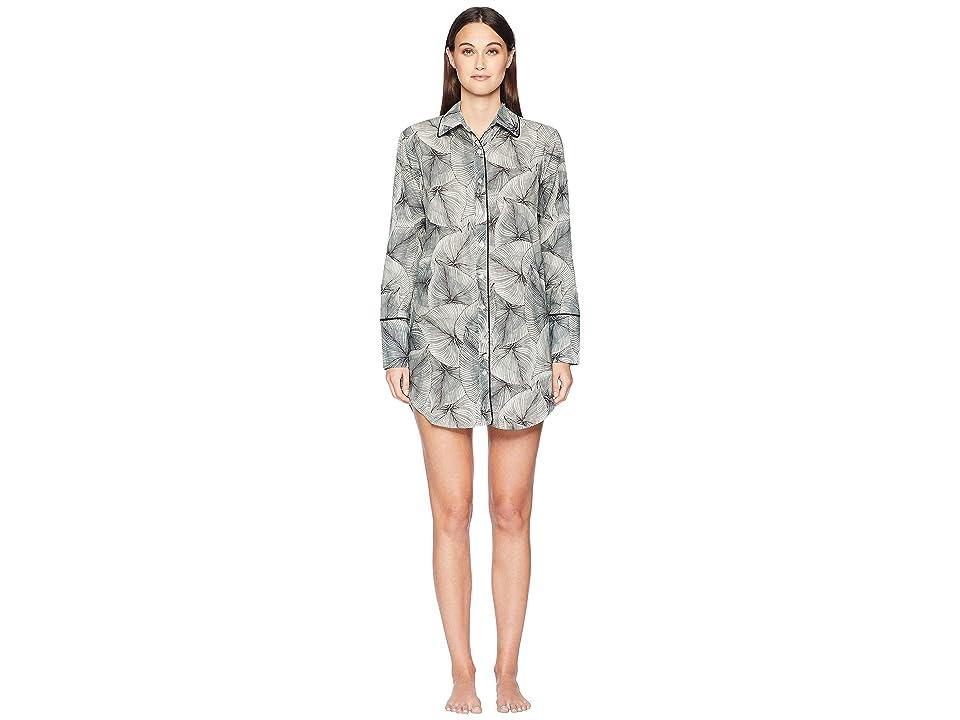 Maison Du Soir Sam Sleep Shirt (Leaf Print) Women