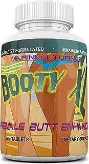 BOOTY XL Best Female Butt Enhancement & Enlargement Pills, Get a Firm, Fuller & Sexy Buttocks, Butt Enhancer. 2600Mg Formu...