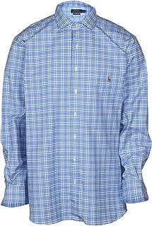 27ba4afb2 Polo Ralph Lauren Men s Big and Tall Oxford Plaid Woven Shirt-Blue White