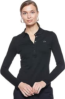 Lacoste Womens Long Sleeve Slim Fit Stretch Mini Piqué Polo Shirt