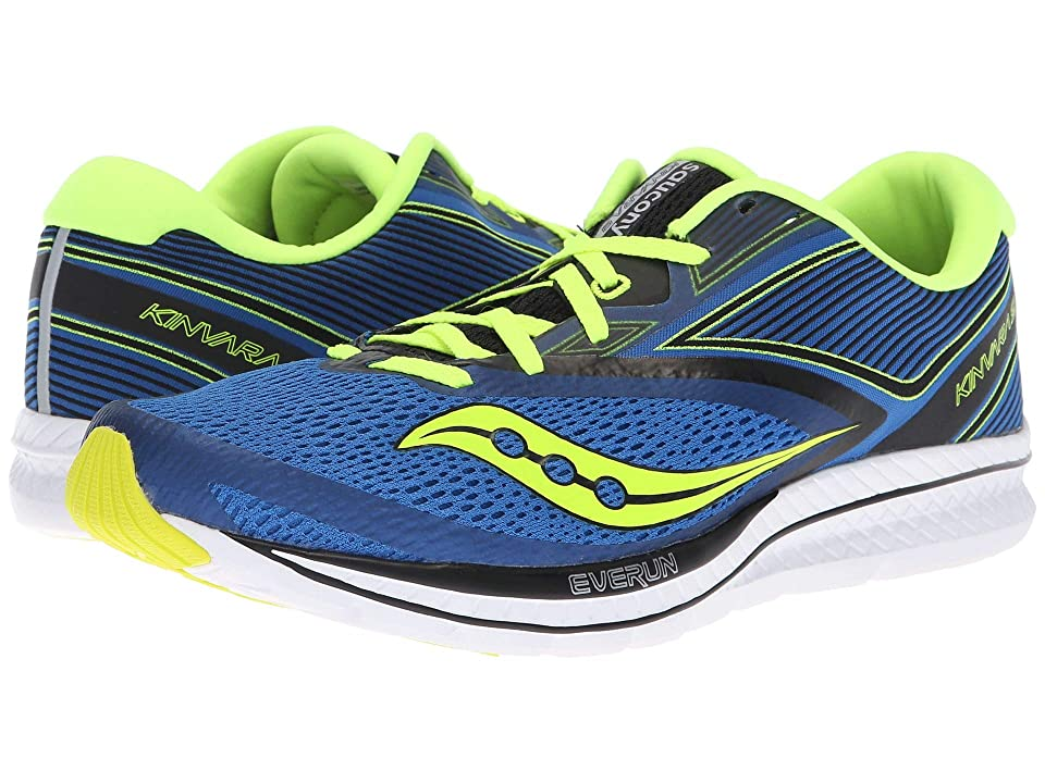 Saucony Kinvara 9 (Blue/Black/Citron) Men