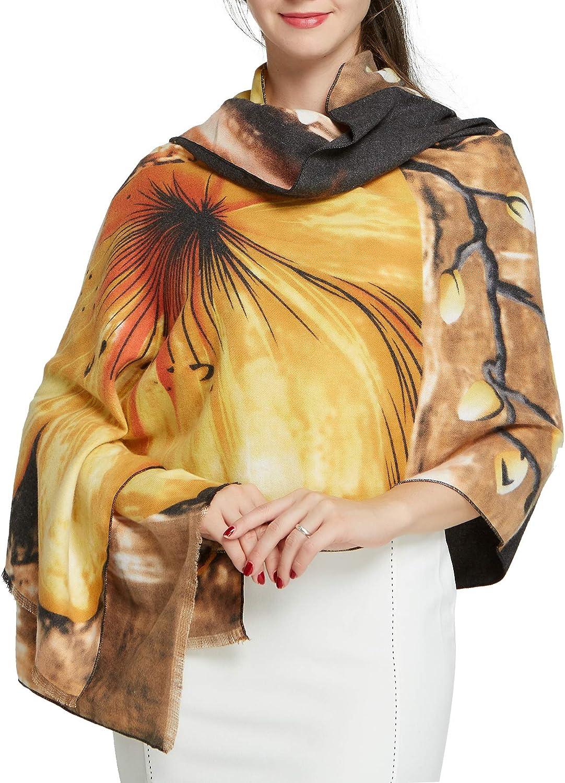 Scarfs for Women Winter Warm - Pantonight Geometric Wool Feeling Shawl Scarf Warm