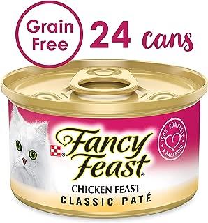 Purina Fancy Feast Grain Free Pate Wet Cat Food; Chicken Feast - (2 Packs of 12) 3 oz. Cans
