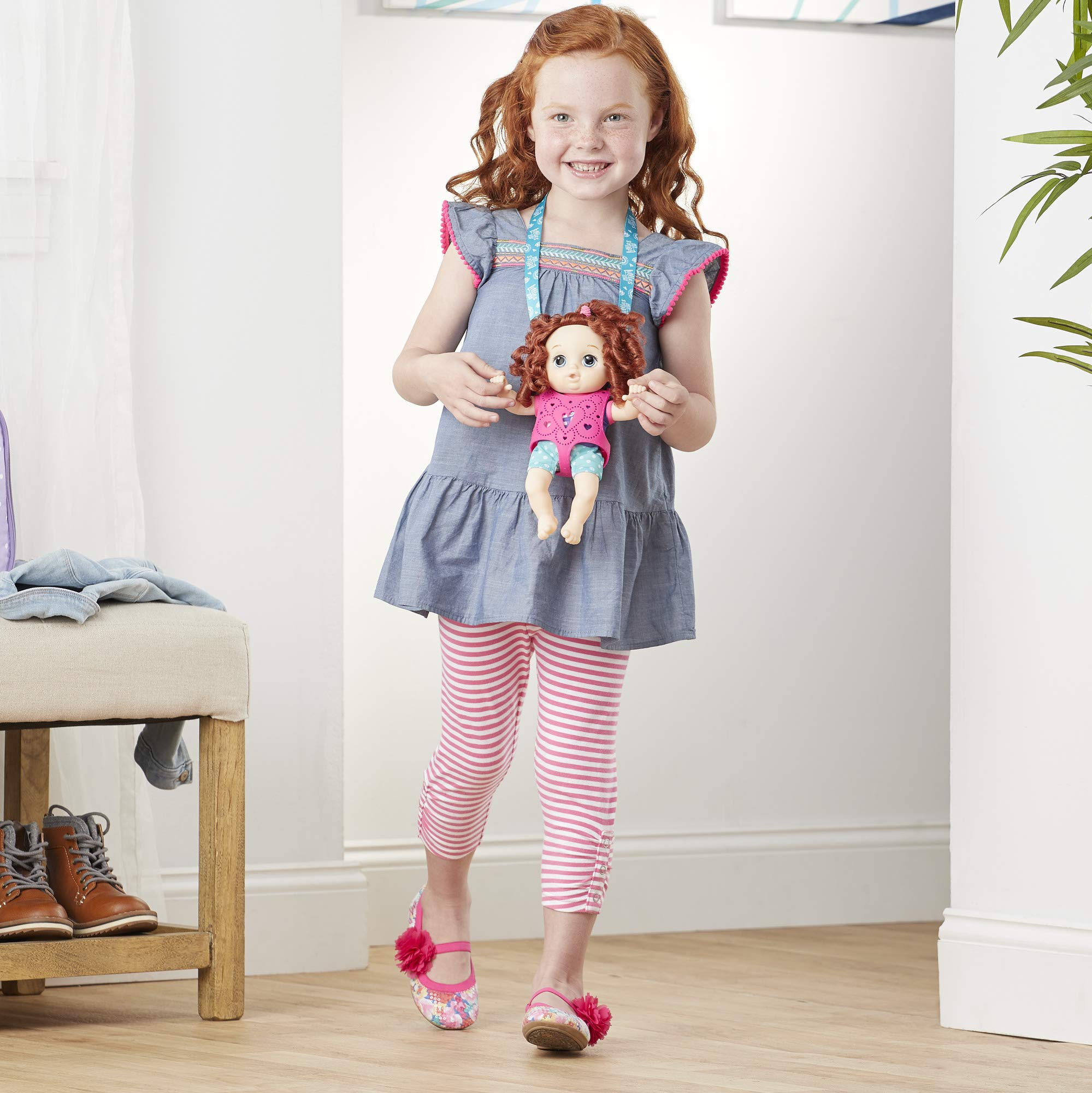 Carry 'N Go Squad Standard Littles by Baby Alive Red Curly Little Zoe