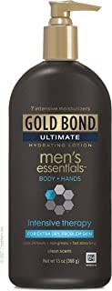 Gold Bond Men's Essentials Intensive Therapy Lotion, 13 Ounce Men's Lotion for Face, Body and Hands