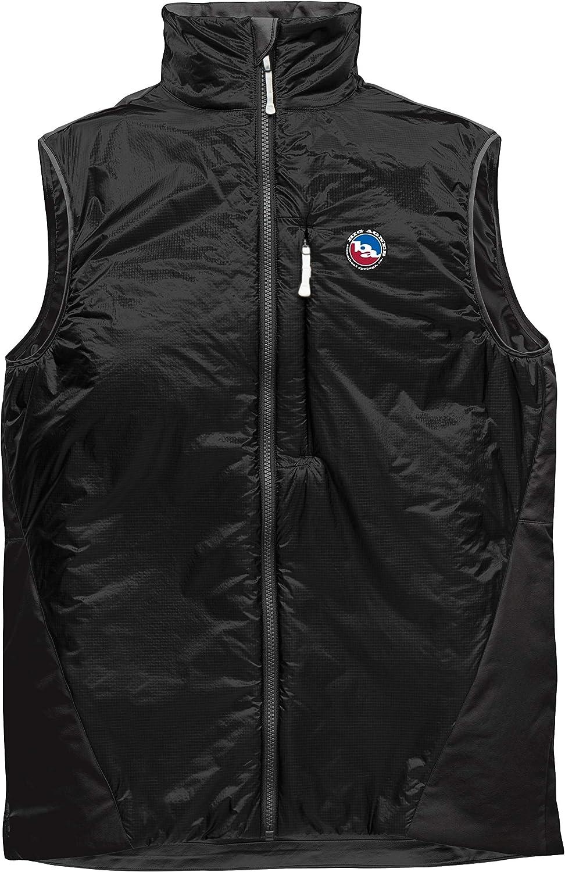 Big Agnes Mens Smokin Axle Insulated Ultralight Vest, Black/Black, Small