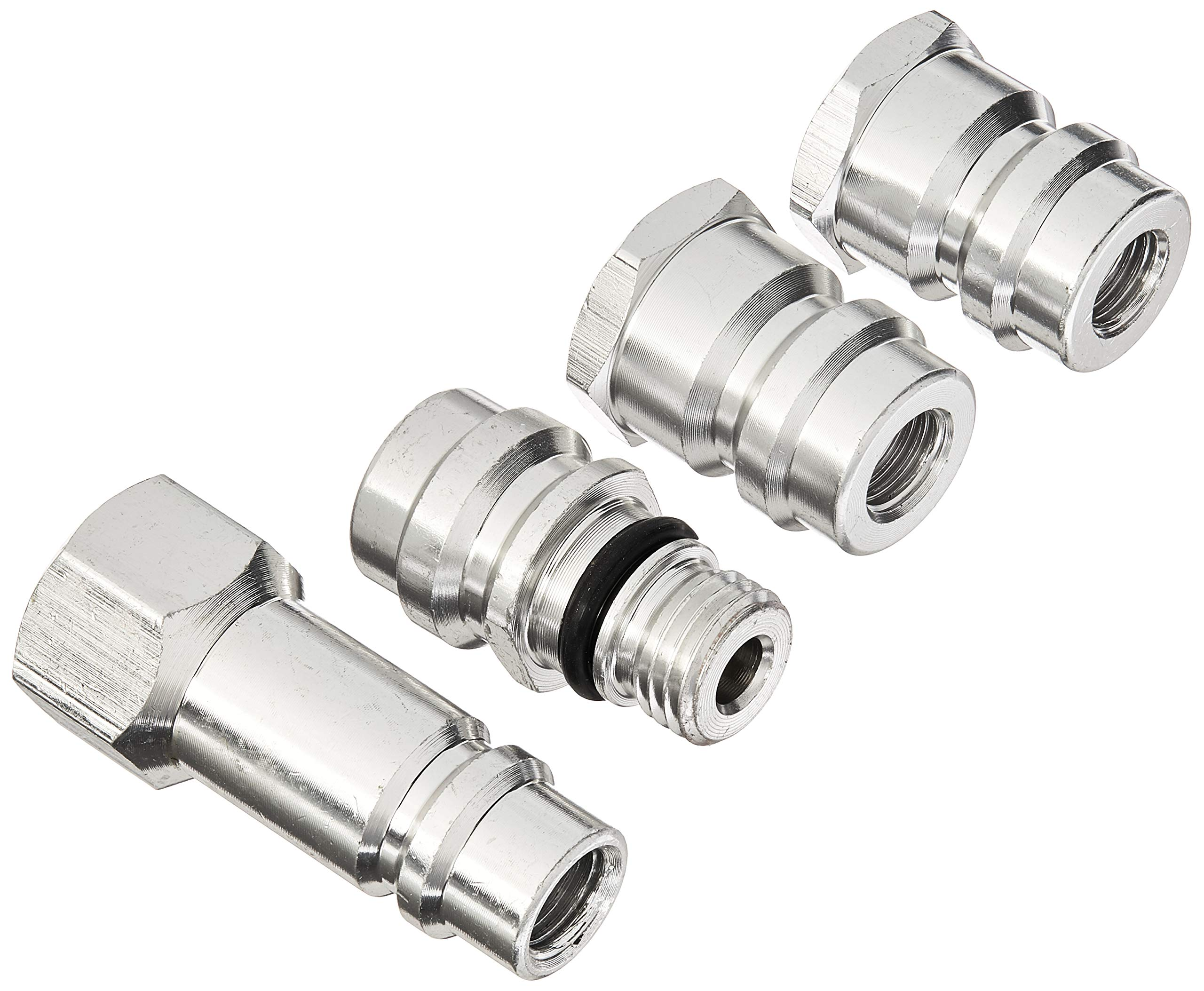 Wadoy R12 to R134a Conversion Kit High//Low Side AC Fitting Port Retrofit Conversion Adapter,R12 to R134a Adapter 1//4 SAE