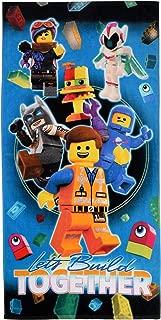 "Franco Kids Super Soft Cotton Beach Towel, 28"" x 58"", Lego Movie 2 Let's Build Together"