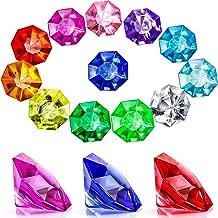 Acrylic Diamond Gems Jewels Pirate Gems Set Treasure Jewels Chest Hunt Party Favors, 25 Carat Multicolored Acrylic Large Gems (45 Pieces)