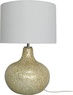 nu steel Champagne Crackle Glass Table Lamp,