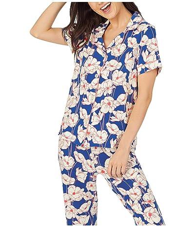 BedHead Pajamas Short Sleeve Cropped Pajama Set (Wild Poppy) Women