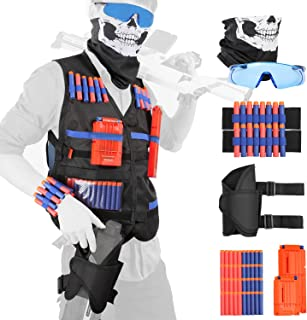 KASCIMU Tactical Vest Kit for Nerf Guns N-Strike Elite Series - Gifts for Birthday and Christmas