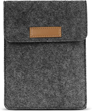 (Dark Gray) - MoKo Sleeve Bag for Kindle Paperwhite / Kindle Voyage, Protective Felt Cover Pouch for Amazon Kindle Paperwhite / Voyage / Kindle(8th Generation, 2016) / Kindle Oasis E-Reader, Dark Grey