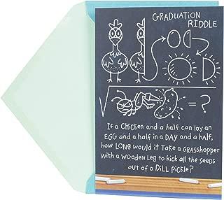Hallmark Funny Graduation Card (Graduation Chalkboard Math Riddle)