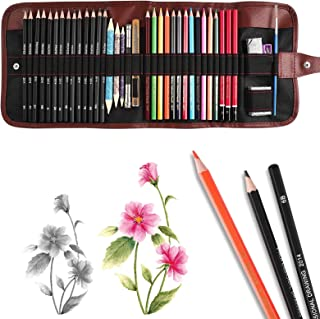 39 Pieces Sketch and Painting Art Supplies Set, Drawing Pencils and Sketching Tools Kit with Graphite Pencils, Charcoal Pe...