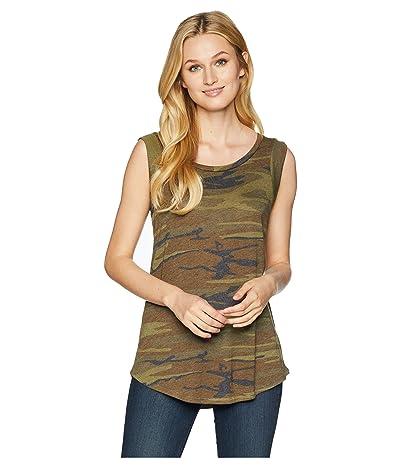 Alternative Cap Sleeve Printed Eco-Jersey Crew T-Shirt (Camo) Women