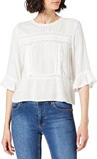 Only Women's ONLANEMONE 3/4 FLAIRED WVN Top