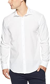 Van Heusen Men's Slim Fit Solid Business Shirt