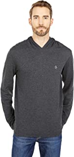 Original Penguin Men's Reversible Duofold Long Sleeve Hoodie Shirt