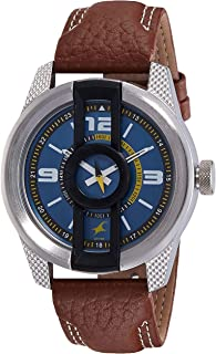 Titan Men's Blue Dial Stainless Steel Band Watch - 3152KL01