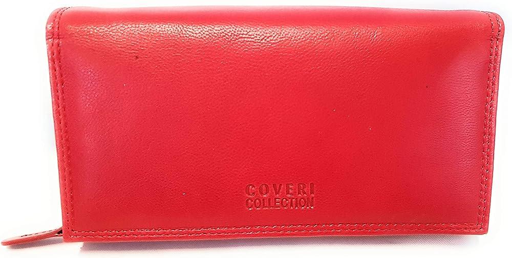 Coveri world,portafoglio per donna in pelle,porta carte di credito,portamonete 1036-155