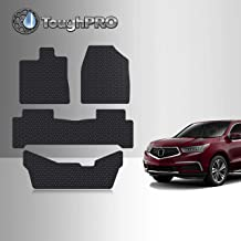GGBAILEY D51374-S2B-BLK/_BR Custom Fit Car Mats for 2010 2012 Acura RDX Black with Red Edging Driver 2011 Passenger /& Rear Floor