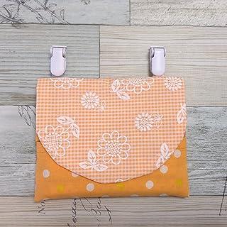 Jam's Ukulele USI-204-2 / 移動ポケット 女の子 オレンジ ひまわり キッズ 手作り ハンドメイド ティッシュケース