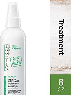 Biotera Natural Origin Renew Leave-In Treatment, with Honey and Goji Berry / Free from SLS/SLES Sulfates, Silicones, Parabens, Dyes and Gluten/ Up to 97% Natural Original, 8-Ounce