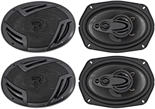 (4) Rockville RV69.4A 6×9 4-Way Car Speakers 2000 Watts/440w RMS CEA Rated