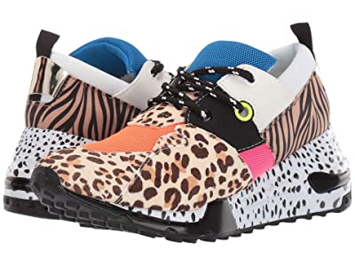 Steve Madden Cliff Sneaker (Leopard/Orange) Women